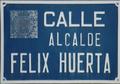 Alcalá de Henares (RPS 08-04-2017) Calle Alcalde Félix Huerta, placa indicativa.png