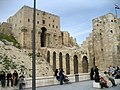 Aleppo (Halab), Syria. Citadel, entrance bridge and gate. - panoramio.jpg
