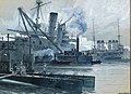 Alexander Kircher - Near the Dardanelles, English and French war ships in the harbour of Malta.jpg