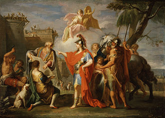 History of Alexandria - Alexander the Great Founding Alexandria by Placido Costanzi (1736-1737)