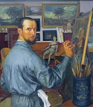 Alexandre Jacovleff - Image: Alexandr Yakovlev (self portrait, 1917, GTG)