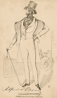 Image of Alfred d'Orsay (1801-1852), published by James Fraser (1783-1856). Alfred D'Orsay.png