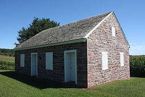 Brecknock Township, Berks County, Pennsylvania - Alleghany Mennonite Meetinghouse, built 1855