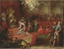 Allegori över drottning Kristinas underkastelse inför katolska kyrkan och påven Alexander VII - Nationalmuseum - 35788.tif