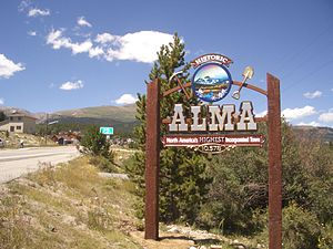 Alma, Colorado - Image: Alma colorado