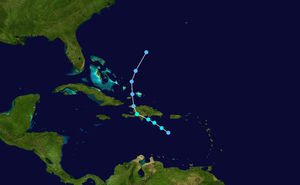 Tropical Storm Alpha (2005) - Image: Alpha 2005 track