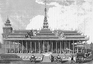 Amarapura - Royal palace of king Bodawpaya at Amarapura, during the visit of the British Embassy of Michael Symes, in 1795