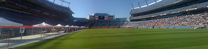 Season nine's Denver audition, at Invesco Field at Mile High.