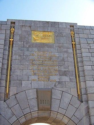 American War Memorial, Gibraltar - Image: American War Memorial 3