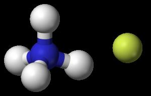 Ammonium fluoride - Image: Ammonium fluoride 3D balls ionic