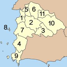 Provincia di Chonburi-Suddivisione amministrativa-Amphoe Chonburi