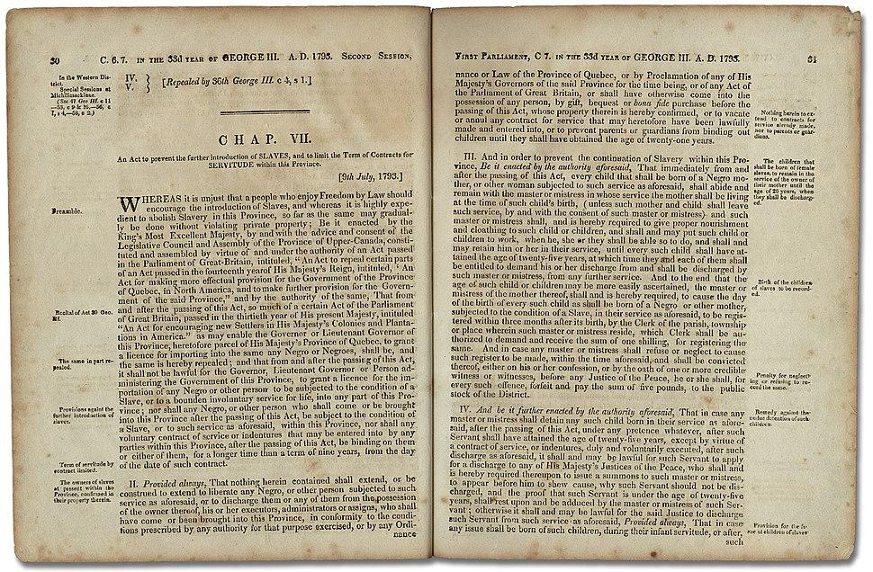 An Act Against Slavery