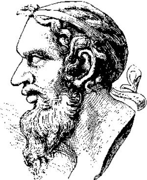 Anacreon - Sketch of a bust of Anacreon