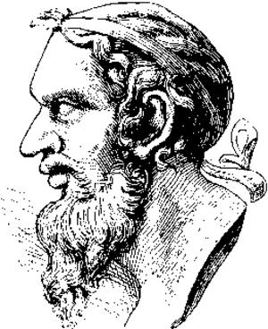 Anacreon - Sketch of a bust of Anacreon