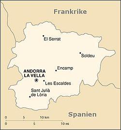Karta Nordostra Spanien.Andorra Wikipedia