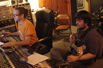 Audio mixing - Image: Andy Sharp Sean Crooks Music Lane 2008