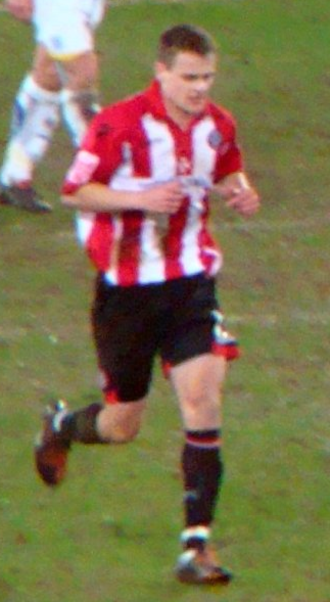 Andy Taylor (footballer, born 1986) - Taylor playing for Sheffield United in 2010