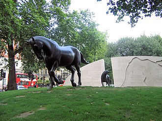 Animals in War Memorial - Image: Animals in War north
