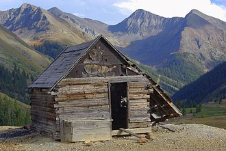 Alpine Loop National Back Country Byway - Image: Animas Forks shack