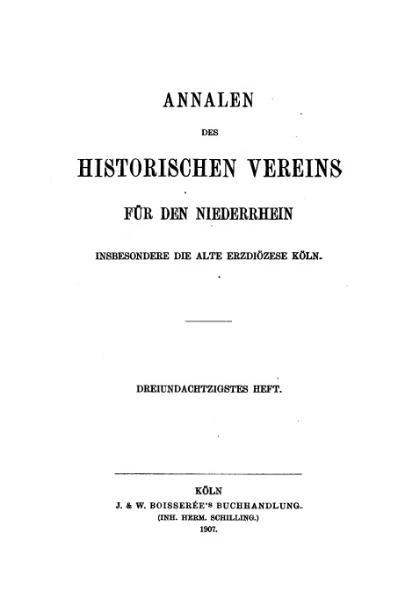 File:Annalen des Historischen Vereins für den Niederrhein 83 (1907).djvu