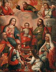 The family of Christ Child with the imprisoned soul of Divine Love