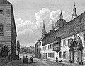 Ansicht von Priesterseminar und Bibliothek in Fulda 1850.jpg