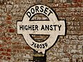 Ansty, detail of Higher Ansty signpost - geograph.org.uk - 1752222.jpg