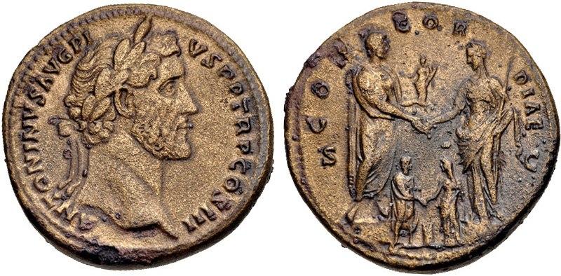 Antoninus Pius, sestertius, AD 140-144, RIC III 601