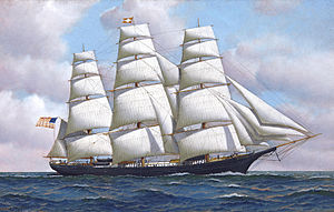 Antonio Jacobsen - The American clipper ship Flying Cloud at sea under full sail.jpg