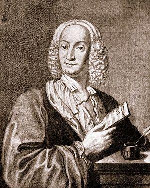 Antonio Vivaldi by François Morellon la Cave; 1725