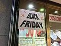 Anunci del Black Friday en un comerç del carrer Nou de Girona.jpg