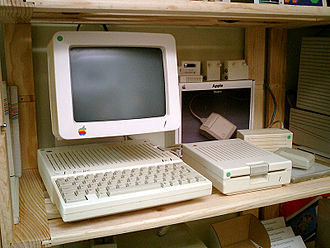 Apple IIc - Apple IIc including monitor, external floppy drive and mouse
