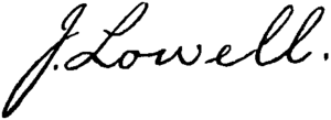 John Lowell - Image: Appletons' Lowell John signature