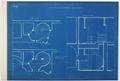 Arbetsritning för fastigheten nr 4 Hamngatan. Kökstrappan, blueprint - Hallwylska museet - 105257.tif