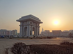 Arch of Triumph (Pyongyang) - Arch of Triumph seen from the north-east