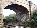 Arch of road bridge over the single-track railway - geograph.org.uk - 1530151.jpg