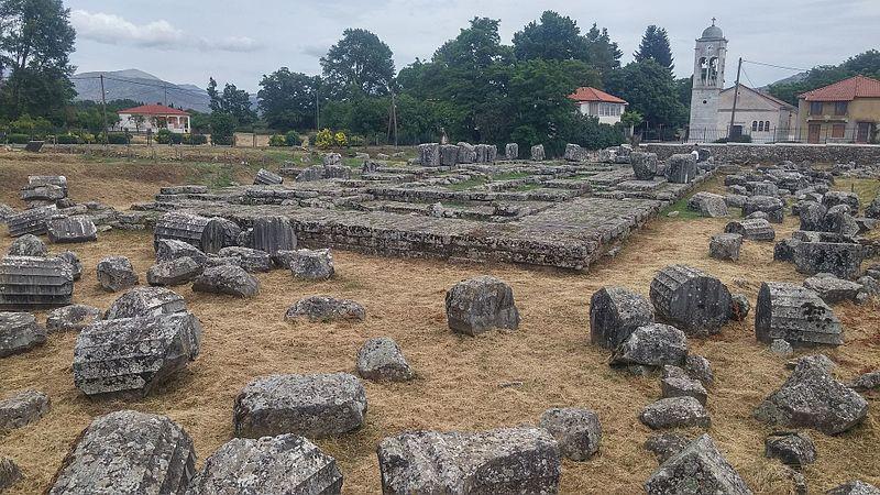 File:Archaeological site of the Temple of Athena Alea at Tegea (2017, image 1).jpg