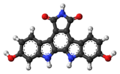Arcyriaflavin C molecule ball.png