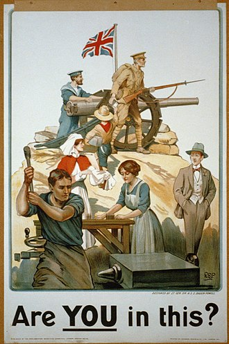 Timeline of the United Kingdom home front during the First World War - A 1917 poster designed by Robert Baden-Powell encouraging civilian participation in the war effort.