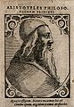 Aristotle. Woodcut by T. Stimmer (?), 1589. Wellcome V0000204EL.jpg