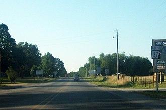 Arkansas Highway 37 - Highway 37 near its southern terminus in Gateway.
