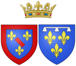 Arms of Louise Diane d'Orléans as Princess of Conti.png