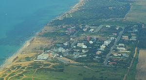 Arsuf, Hof HaSharon - Image: Arsuf Aerial View