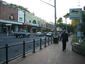 Artarmon, New South Wales - Image: Artarmon, New South Wales street