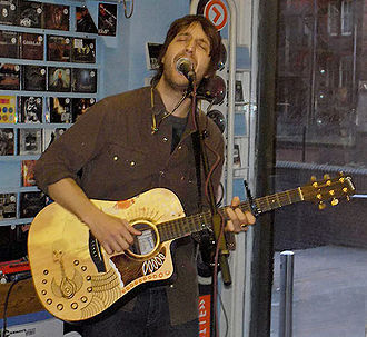 Joseph Arthur - Arthur performing at Avalanche Records, in Glasgow, in February 2006.
