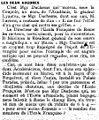 Article sur Louis Duchesne ( 1843-1922) de la revue française Les Potins de Paris, en 1919..jpg