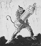"Artists - American Artworks (Wartime Cartoons) - War Cartoons. ""An Idea from Hell."" Drawn by John Cassel, cartoonist for the N.Y. Evening World - NARA - 20807492 (cropped).jpg"
