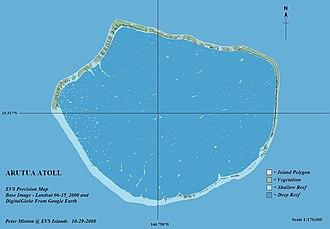 Arutua - Image: Arutua Atoll FP EVS Precision Map (1 170,000)