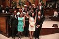 Asambleístas al termino de la sesión solemne, en la que el presidente de la República, Rafael Correa Delgado, presentó su informe a la nación (6031054032).jpg