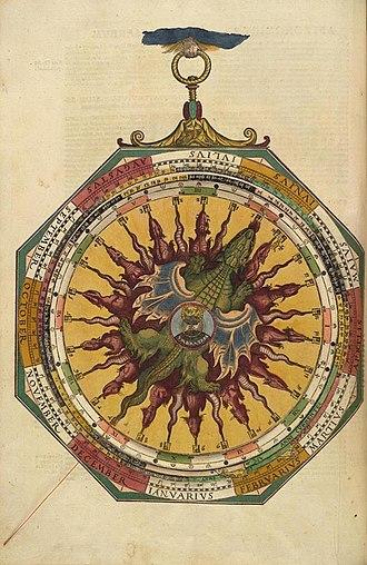 Petrus Apianus - A volvelle from  Astronomicum Caesareum (1540)